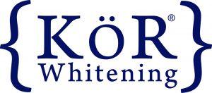 Kor whitening logo in blue