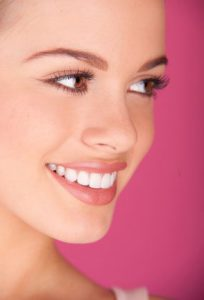 woman smiling with beautiful white smile