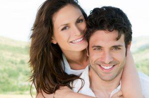 closeup of a couple smiling